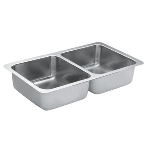 moen kitchen sinks undermount moen 1800 series undermount stainless steel 32 in
