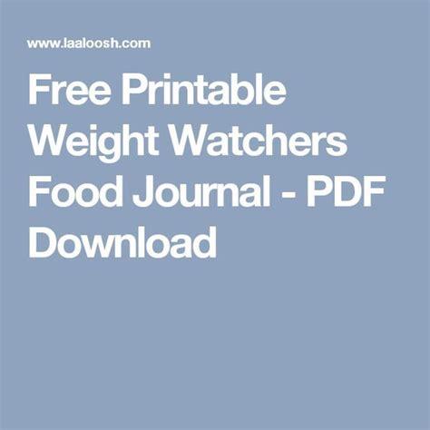 printable food journal weight watchers 17 best ideas about food journal on pinterest food