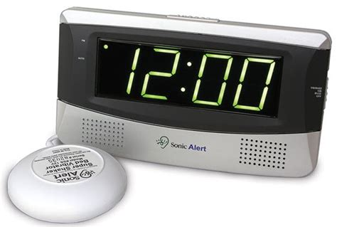 sonic boom alarm clock with bed shaker free shipping