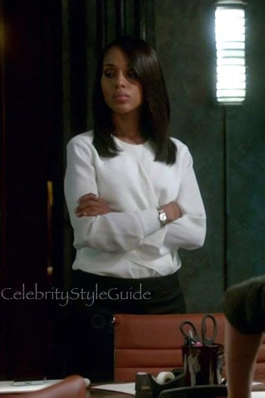 olivia pope haircut olivia pope shows off her signature style in this white