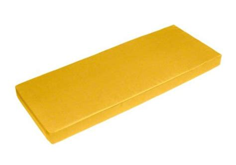sunbrella sunflower yellow bench cushion cushio com