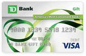 visa gift card information register your gift cards online td bank - Td Bank Visa Gift Card