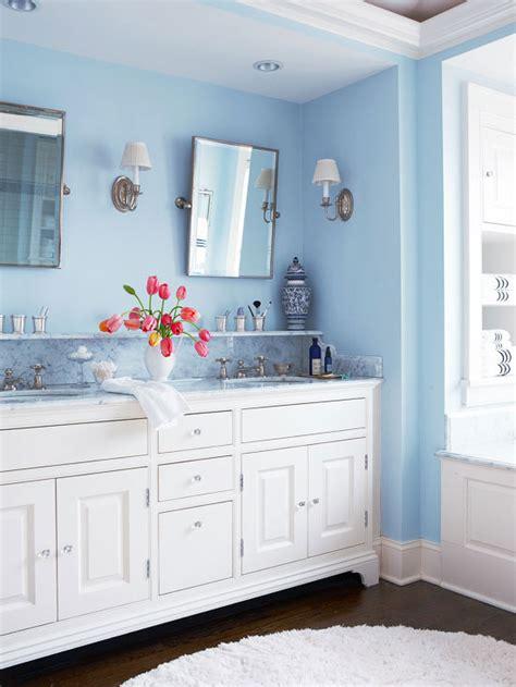 white and blue bathroom white and blue bathroom design transitional bathroom bhg