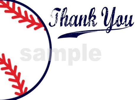printable thank you cards baseball 9 best images of baseball printable thank you cards