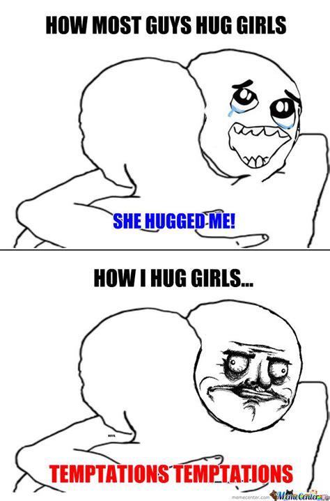 hug meme awkward hugging by reflys meme center