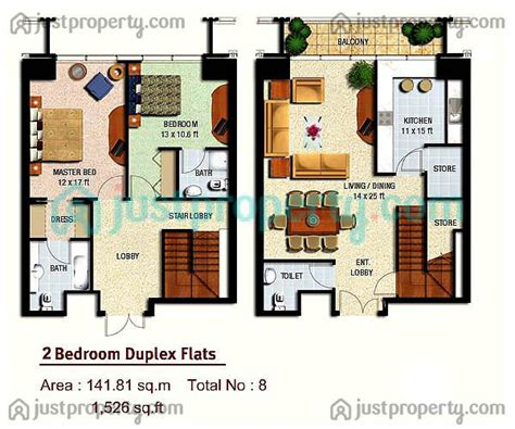 1 Floor Height by Marina Height Floor Plans Justproperty
