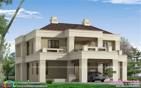 kerala colonial home kerala home design and floor plans