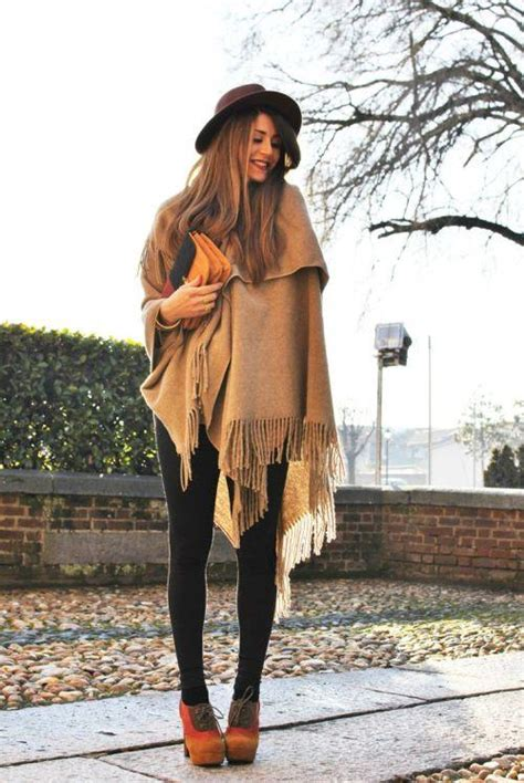 How To Wear Fall Fashions Top Trends by Blanket Ponchos Fashion Trends Just Trendy