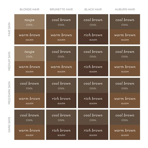 brow color a real guide to finding the right brow color for you