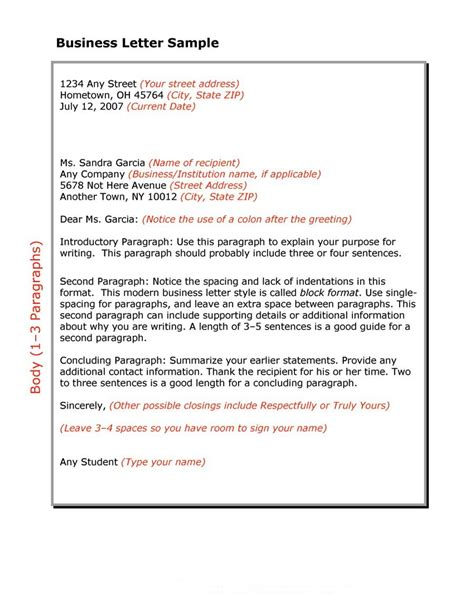 standard business letters business letters standard business letter