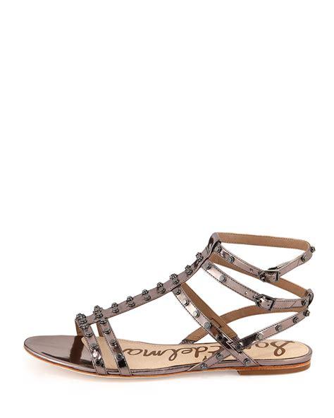 sam edelman studded sandals sam edelman berkeley metallic studded sandal in metallic