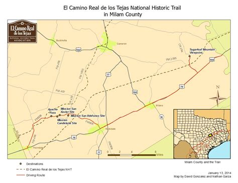 El Camino Map by National Park Service And Association Trail Maps El