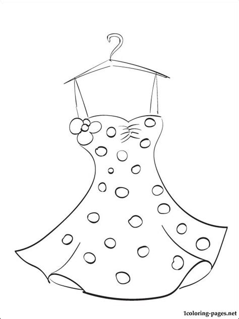 free coloring pages of summer clothes to colour