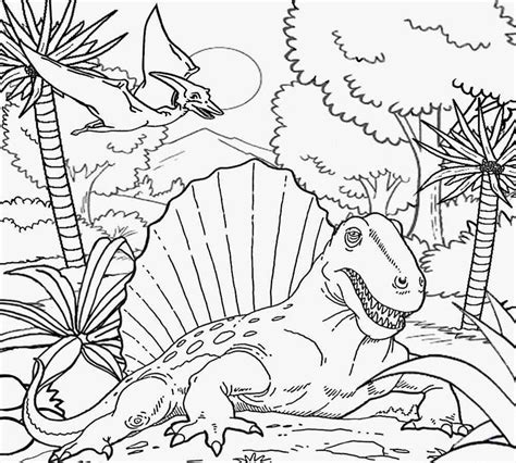 dinosaur habitat coloring page free coloring pages printable pictures to color kids