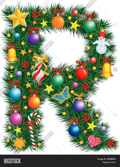 alphabet letter r christmas vector photo bigstock