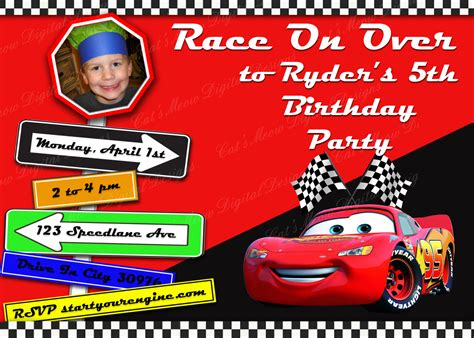 disney cars invitation templates pixar cars printable birthday invitation personalized cars