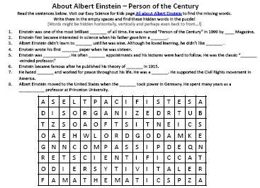 printable biography of albert einstein image of free albert einstein worksheet easy science for