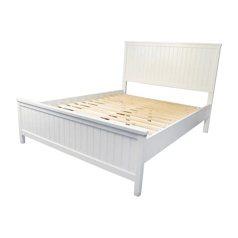 used queen bed frame 51 off pottery barn pottery barn wooden queen sized bed