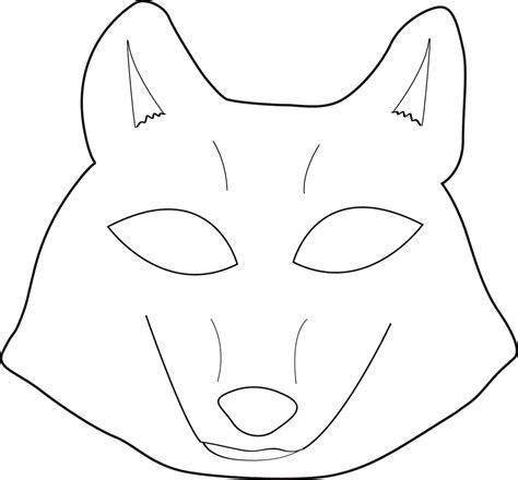 Printable Wolf Mask Black And White | mysterious strangers wolf mask printable masks and patterns