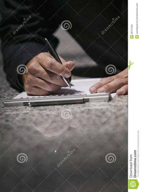 person writing on paper writing on paper royalty free stock images image