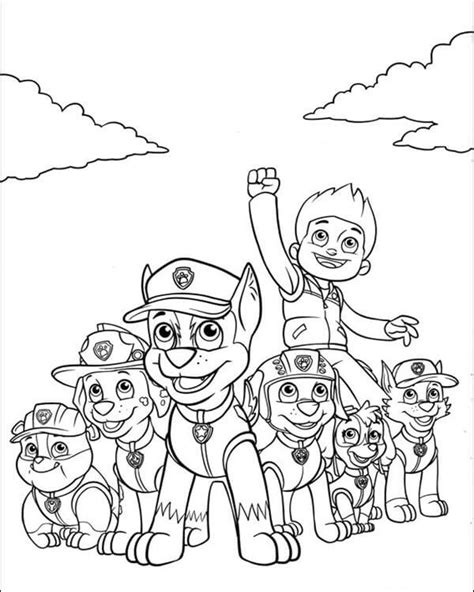 paw patrol happy birthday coloring page top 10 paw patrol coloring pages of 2017