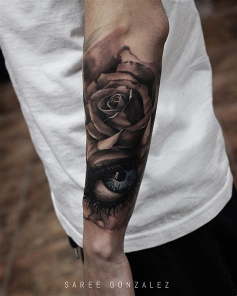 rose tattoo sleeve for men today s work sleeve in progress sareegonzalez