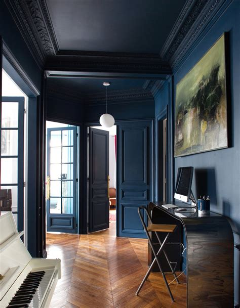 decoration marine maison peinture bleu marine chambre