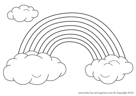 coloring pages for rainbows pages colors crafts ideas stuff rainbows