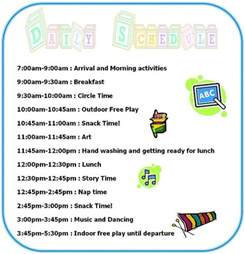 home daycare schedule template discover and save creative ideas