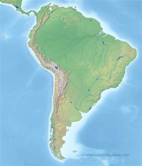 south america physical political map south america physical map freeworldmaps net