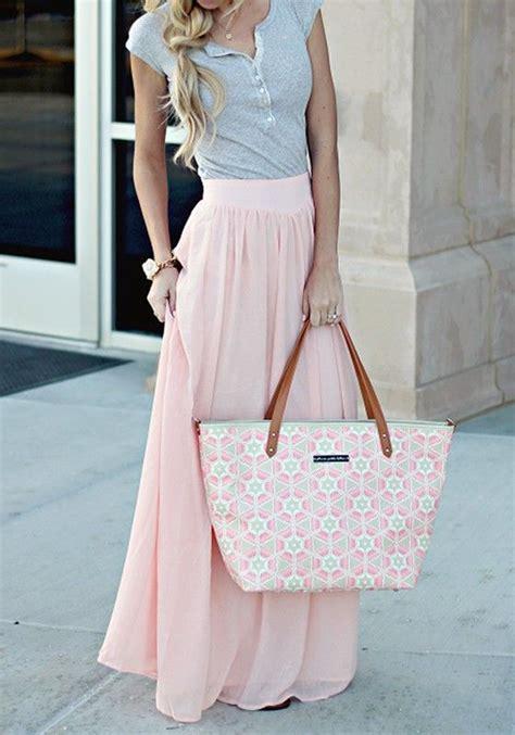 Pastel Blouse Muslim Rok Maxi Flowy 25 best chiffon skirt ideas on rehearsal