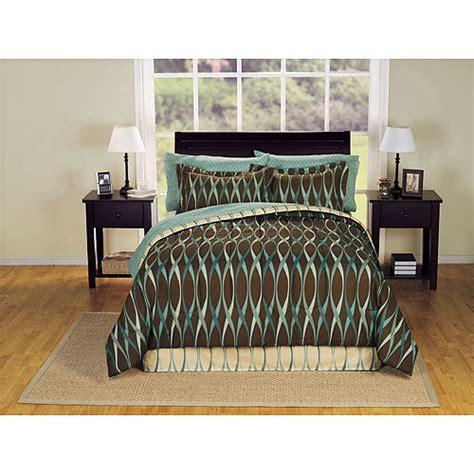bed in walmart wavy bed in a bag bedding set walmart com
