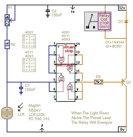 two light operated relay circuits