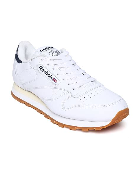 reebok classic white leather running shoes