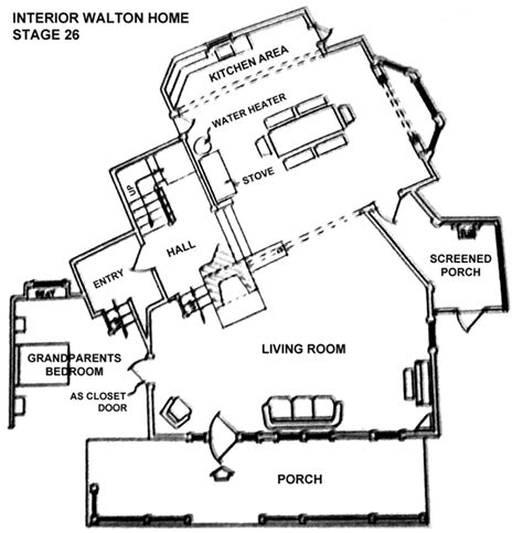 walton house floor plan the waltons floor plan the mk ii house as it first