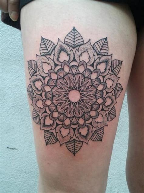 tattoo flower geometric geometric flower mandala tattoo dot pinterest