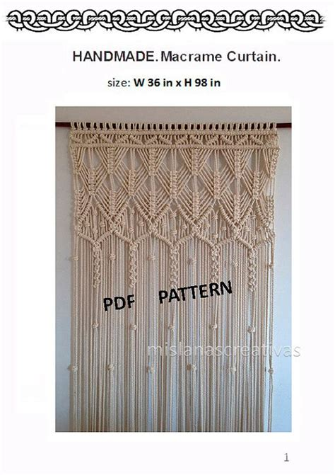 Free Macrame Patterns Pdf - 25 best ideas about curtain patterns on diy