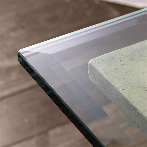 beveled glass table top rectangle glass table tops w beveled edge ballard designs