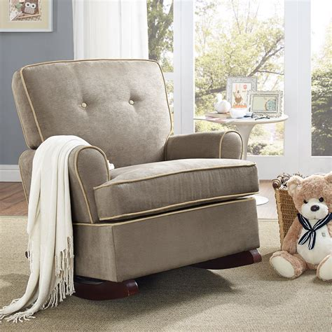shermag aiden glider and ottoman set white with grey fabric gliders with ottoman for nursery thenurseries