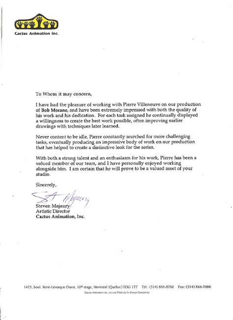 letter of commendation template letter of commendation 2 in villeneuve s about me