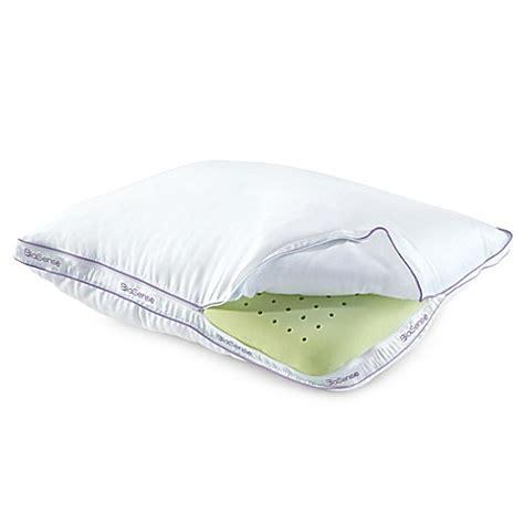 memory foam pillow bed bath beyond brookstone 174 biosense memory foam classic pillow with