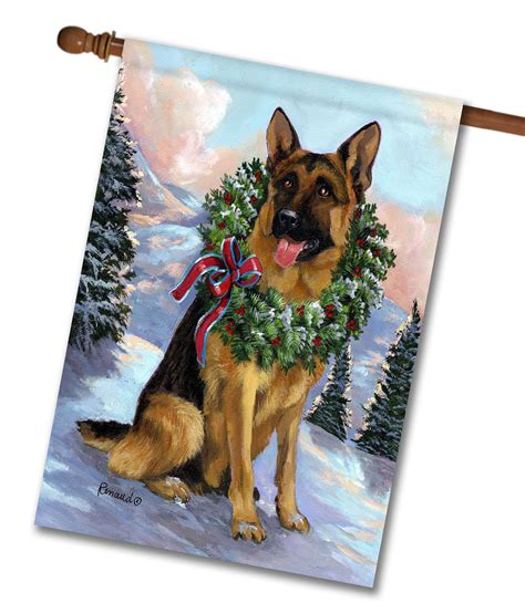 german shepherd dog house german shepherd honor pet flags flagology com
