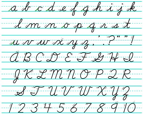 Image Gallery handwriting alphabet with arrows