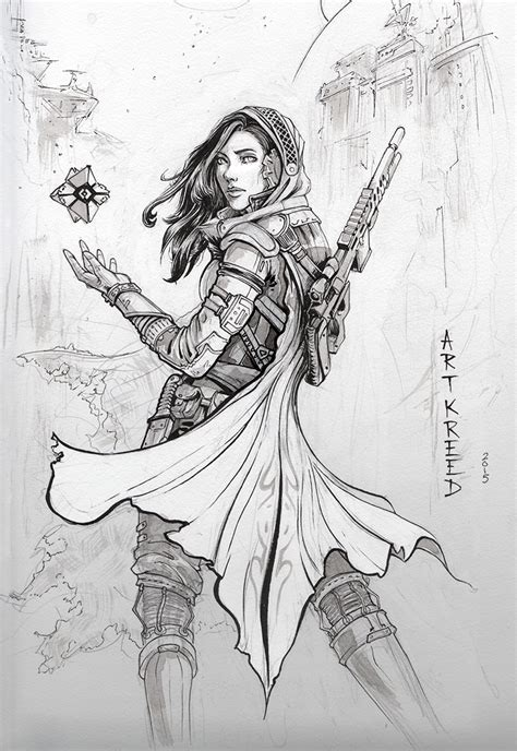 Destiny 2 Sketches by Inktober 3 By Artkreed On Deviantart