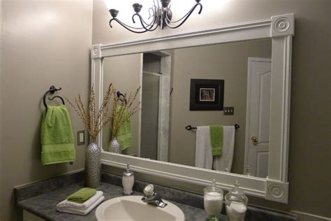 Bathroom Vanity With Custom Mirror Frame Contemporary Custom Framed Mirrors For Bathrooms