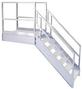 Osha Industrial Stairs by Welded Aluminum Prefab Stairways Galvanized Stairs