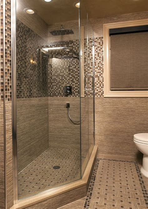 40 brown mosaic bathroom tiles ideas and pictures