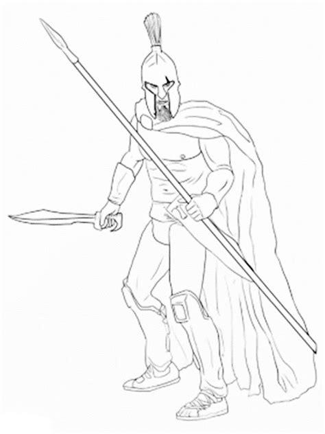 Spartan Warrior Coloring Pages Coloring Pages Spartan Coloring Pages