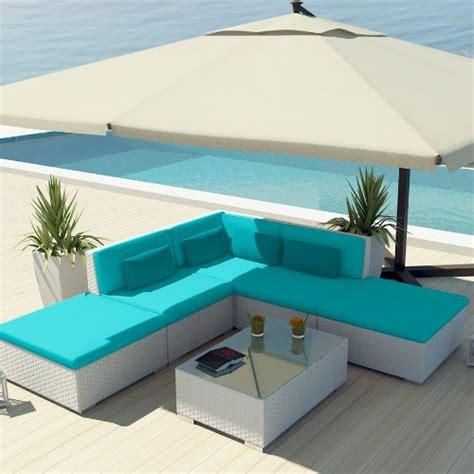 Turquoise Patio Furniture Uduka Outdoor Sectional Patio Furniture White Wicker Sofa Set Porto 6 Turquoise All Weather