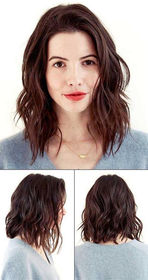 angled wavy lob 30 best brown bob hairstyles bob hairstyles 2017